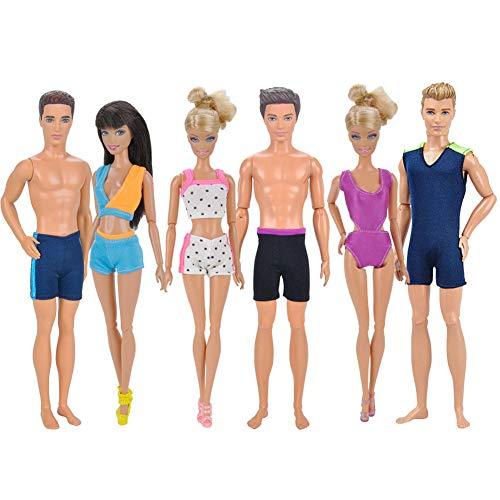 XuBa Bikini Handgemachte Bademode Beach Badeanzüge Outfits für 32 cm männlich / 29 cm weibliche Puppen