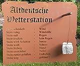 Altdeutsche Wetterstation 70x82cm Rost Tafel Regenmesser Gartenschild Metall Deko Edelrost