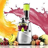 Cecotec Licuadora para frutas y verduras de prensado en frío, extractor de jugo con canal XL para fruta entera, 45 rpm, tapón antigoteo, BPA Free, Modelo nuevo. Cecojuicer Pro (CecojuicerPro)