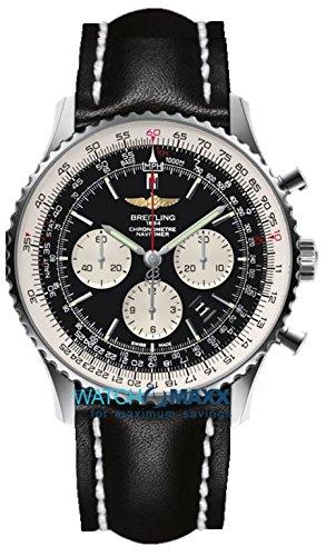 Breitling Herren-Armbanduhr Chronograph Automatik Leder AB012721/BD09/441X