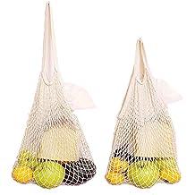 Baumwolle Net Einkaufstasche, IHUIXINHE Wiederverwendbar Lebensmittels Seidenbändchen, Ökologie Markt String Bag, Premium waschbar Mesh Taschen für Einkaufen und Speicherung von Obst vegetable