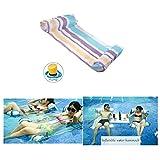 Artistic9Schwimmbad, Wasser-Reihe mit Aufblasbare Hängematte Wasser schwimmen Pool Lounger Sitzkissen Outdoor-Spielzeug für Kinder Erwachsene ater-Outdoor-Spielzeug für Kinder Erwachsene, Karbonstahl, violett, 130x70CM