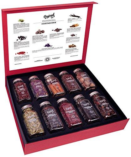 Profi Cocktail Geschenkset Prämium Gewürze & Kräuter - 495 Gramm Botanicals & Spices