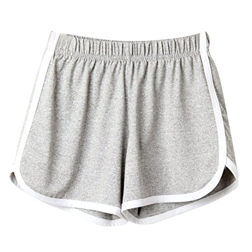 UFACE Damen Sport Shorts Shorts Mode Frauen Dame Sommer Sport Shorts Strand Kurze Hosen (L/(42), Grau)