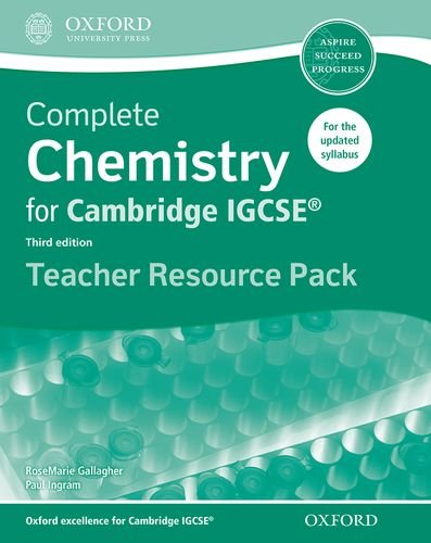 Complete Chemistry for Cambridge IGCSE ® Teacher Resource Pack (Third edition) (Complete Science Igcse)