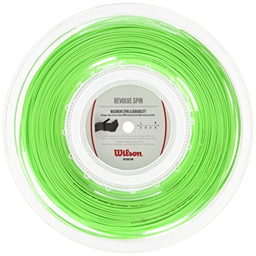 Wilson Revolve Spin 16 Reel GR Schlägernetz, Grün, One Size