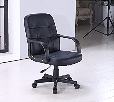 Black High Executive Luxury Faux Leather Chair Leather Swivel,Pocker Computer Desk Furniture Armchair [Energy Class A+] produced by China - quick delivery from UK.