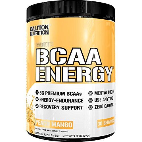 Evlution Nutrition BCAA Energy   Leistungsstarke Energiespendende Aminosäuren Für Muskelaufbau, Erholung Und Ausdauer (Peach Mango, 30 Portionen) -