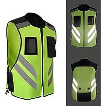 Per Chalecos de Seguridad Reflectantes de Alta Visibilidad para Moto  Bicicleta Chaquetas Moto para Hombre y e7d6d9ef6d77