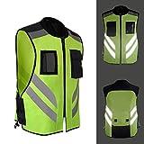 Per Chalecos de Seguridad Reflectantes de Alta Visibilidad para Moto Bicicleta Chaquetas Moto para Hombre y Mujer Ropa Impermeable para el Aire Libre