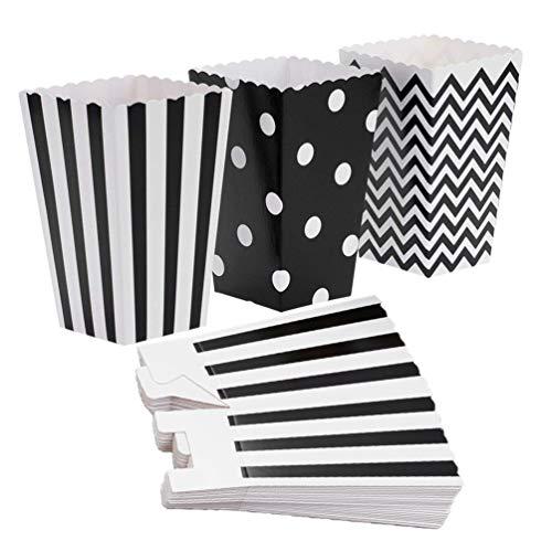 Mactio Popcorn Boxes,36 Stück Popcorn-Boxen Popcorn Tüte Popcorn Candy Boxen Behälter für Party und Popcorn (schwarz)
