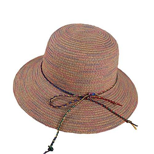 Leisial Verano Sombrero de Paja Sombrero del Pescador del Colores Protector  Solar Sombrero de Playa Sol 1c4b6b49862