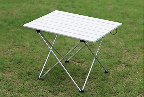 WXZB Klapptisch Ultraleicht Aluminiumlegierung Tragbare Klapptisch Picknick Grill Tisch Freizeit Stall, große Silber [Aluminiumplatte]