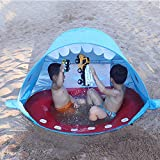 Strand Pop Up Zelt, PER Kinder Strandzelt UPF 50+ UV Schutz Sun Shelter Zelt, Tragbares Outdoor...