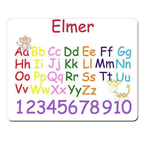 elmer-personnalisee-pour-enfant-alphabet-et-chiffres-educatif-premium-tapis-de-souris-5-mm-depaisseu