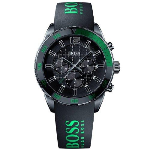 Hugo Boss Herren-Armbanduhr Chronograph Quarz Silikon 1512847