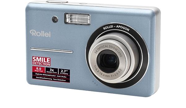 Rollei X 8 Kompakt Digitalkamera 2 7 Zoll Blau Kamera