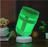 Lindo Fortnite 3D LED USB Home Decorativo Dormitorio Dormitorio Luz de Noche Lámpara Multicolor Regalos para Niños Juguetes de Cable de Iluminación