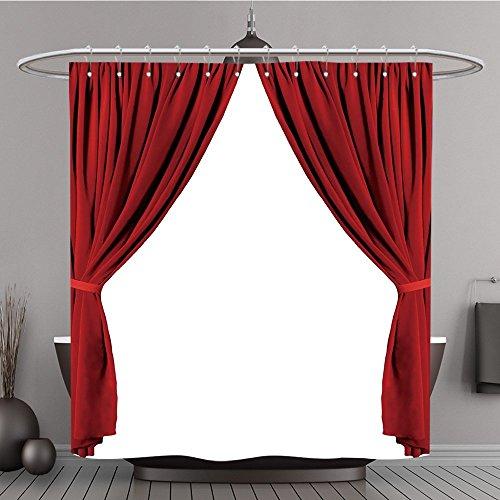 Harry Auf Welt Zauberstäbe Potter (Duschvorhang 351554273rot Theater Vorhang Polyester-auf weißem Hintergrund-Bad)