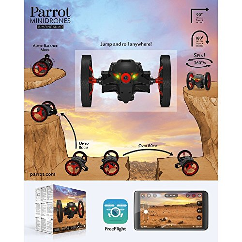 Parrot Jumping Sumo Minidrone (WiFi, Wide Angled Kamera) schwarz - 8