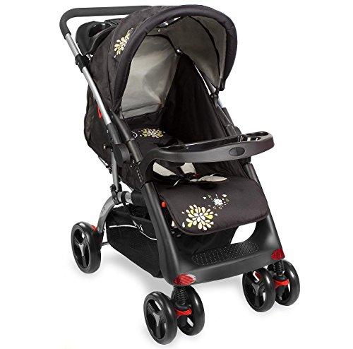 Kinderwagen RANGER S4-2 Gepolsterter 5-Punkt Sicherheitsgurt Schwarz