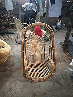 Chennai Chairs Solaris Rattan Cane Swing Chair Natural Finish Amazon In Home Kitchen