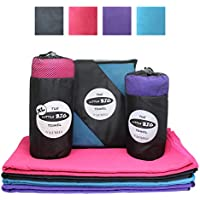 Little Big Towel Toalla Grande de Microfibra para un Secado Rápido de 4 Colores a la Moda - El Tamaño Perfecto, es una Toalla Little Big