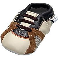 Jinwood - trainer beige - mini shoes - Turnschuhe - Hausschuhe - Lederpuschen - Krabbelschuhe - by amsomo