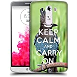 Super Galaxy Coque de Protection TPU Silicone Case pour // Q01014393 keep calm and carry on 682 // LG G3 VS985