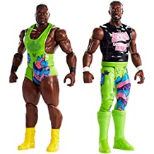 MATTEL fmh99 WWE Tough talkers figuras Big S and Kofi, pack de 2, 15 cm