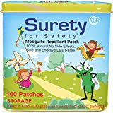 Surety For Safety Herbal Mosquito Repellent Patch (100)