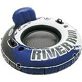 Intex River Run - Flotador con asiento, 135 cm diametro, azul/blanco