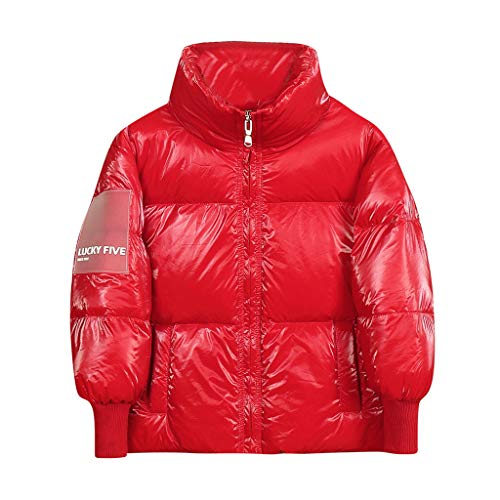Livoral Kinder Winter Mantel Kleinkind Baby Mädchen Jungen Winter Cartoon Winddichter Mantel Mit Kapuze Warme Outwear Jacke(Rot,120)
