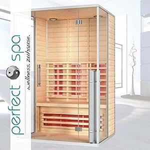infrarotkabine menorca infrarot sauna f r bis zu 2 personen w rmekabine infrarotsauna amazon. Black Bedroom Furniture Sets. Home Design Ideas