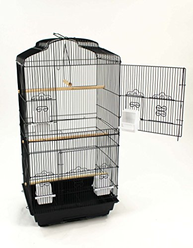 Easipet Large Metal Bird Cage for Budgie, Cockatiel, Lovebirds etc (Black) 10