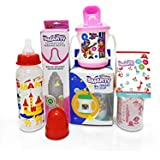 Combo Set Of 3 BPA Free Baby Feeding Bottle 250ml Print, 150ml Spoon Bottle And Smart Cup Sipper