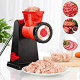 Newnest Meat Grinder,Manual Meat Minicer,Sausage Maker Stuffer,Duty Household Vegetable Grinder Food Grinding Mincing(Black)