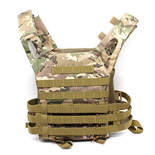 RANZIX Taktische Airsoft Paintball Combat Militär Swat Weste Taktische Einsatzweste, PLPC Weste Taktische Carrier Weste Brustschützer für CS (Khaki)