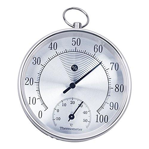 rcyago Digital higrómetro térmico 10cm interior exterior anillo para colgar termómetro higrómetro Meter