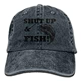 Xdevrbk Shut up & Fish Snapback Cotton Hat Unisex8