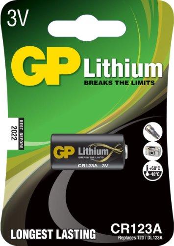 GP Batteries Lithium Batterie CR123A / DL123A (3 Volt)