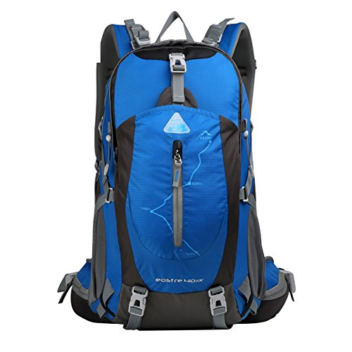 Bergsteigen Tasche / Schultertasche / große Kapazität wasserdichten Outdoor-Wanderrucksack / Freizeit Sporttasche / Reise Camping Rucksack-grün 40L blau