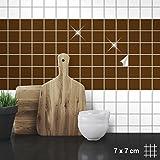 Wandkings Fliesenaufkleber für Küche und Badezimmer, 7 x 7 cm, 50 Stück - Farbe wählbar