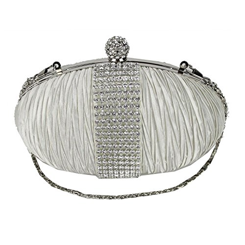 fi9  da donna diamante Bling party Prom bridal Evening clutch Hand bag Purse borsetta, Multicolore