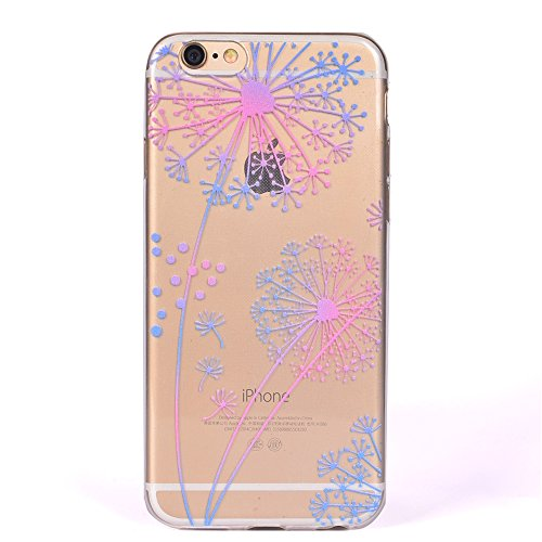 Pour Apple iPhone 5 5S 5SE Case Cover, Ecoway TPU Clear Soft Silicone Back Dream Rose Housse en silicone Housse de protection Housse pour téléphone portable pour Apple iPhone 5 5S 5SE - Dream Rose Pissenlit