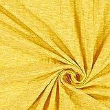 Fabulous Fabrics Leichter Rippenstrick Melange – gelb —