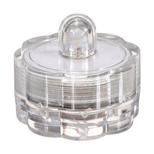 SODIAL(R) Luz de te centelleante de vela LED Luz de tede vela de cera LED Decoracion de fiesta Impermeable blanco