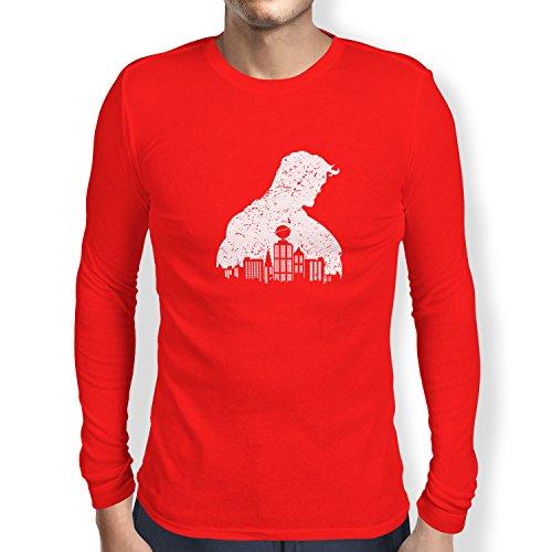 TEXLAB - Vintage Clark - Herren Langarm T-Shirt, Größe M, (Lois Und Clark Kent Kostüm)