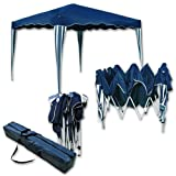 Falt-Pavillon Easy-Up 3x4m blau-weiss