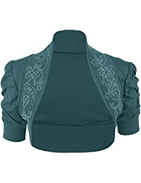 nouveaux dames à manches courtes Bolero paillettes haussement d'épaules 44-54
